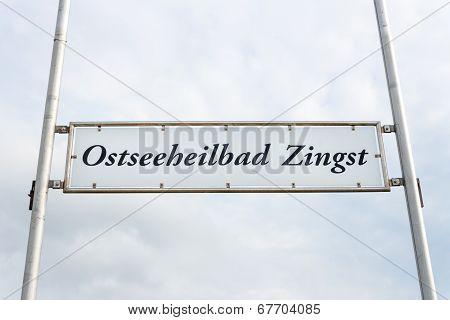 Pier Sign In Zingst
