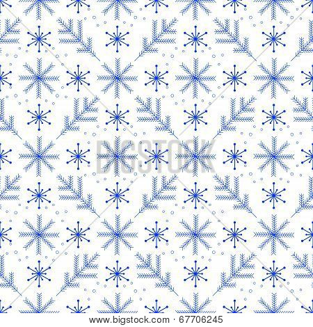 A simple winter seamless pattern
