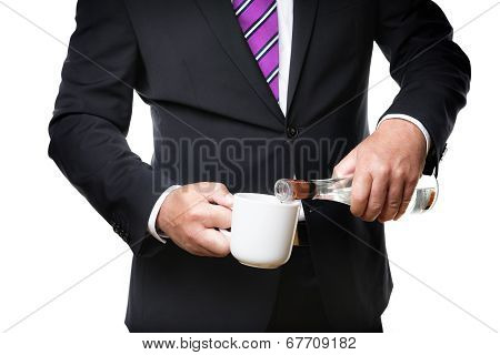 Business Man With Alcohol