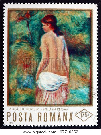 Postage Stamp Romania 1971 Nude, By Pierre-auguste Renoir