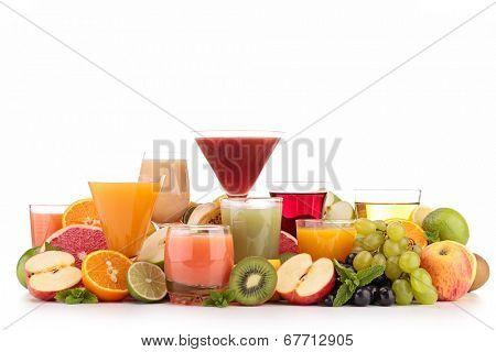 assortment of juice
