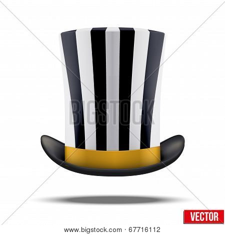Striped big gentleman hat cylinder