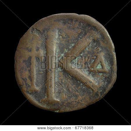 Vintage Byzantine coin