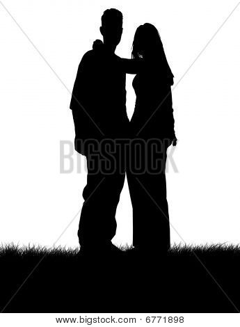 Young Couples silhouette