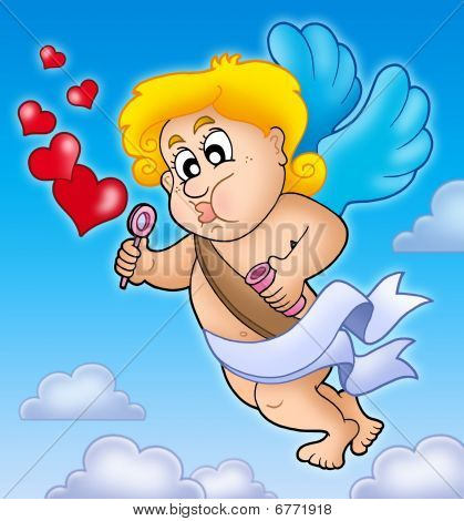 Valentine Cupid With Bubble Maker