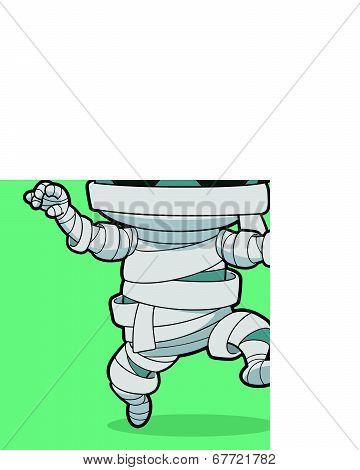 Cartoon Running Mummy