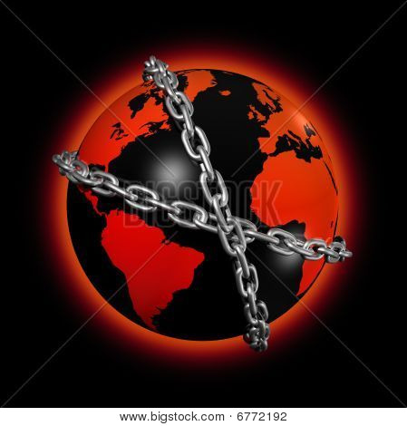 Chained World Globe