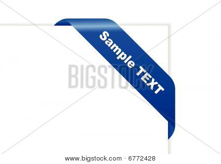 Vector paper with blue ribbon