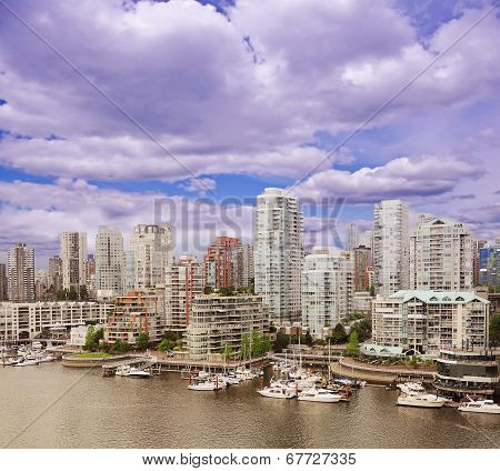 View of Vancouver downtown.
