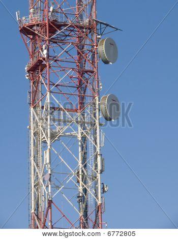 Television and radio mast.