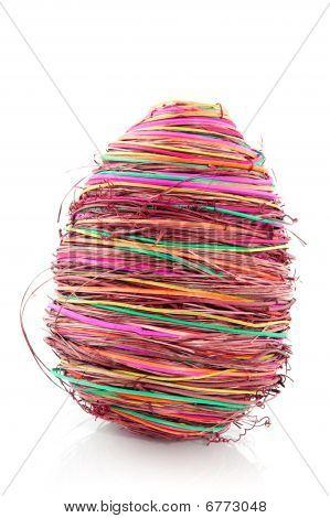 Straw Easter Egg