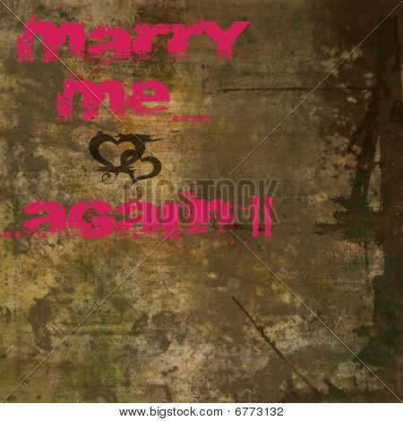 Valentine Background With Marry Me Text