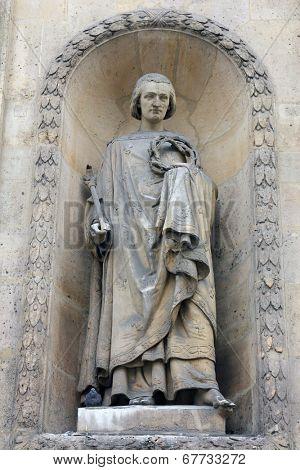 PARIS, NOV 07: Saint Louis, church of St. Elizabeth is situated in the 3rd arrondissement of Paris. Church was dedicated to Saint Elizabeth of Hungary in 1646. On Nov 7,2012 in Paris