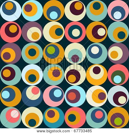 Vector retro circle seamles pattern
