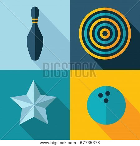 Vector games set icon