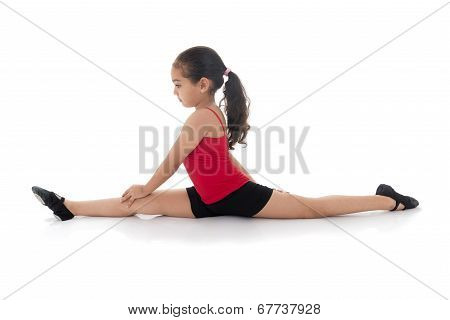 Gymnastics Girl Full Split
