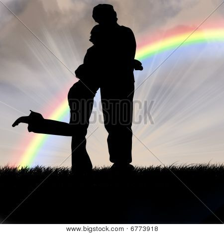 Couple And Rainbow