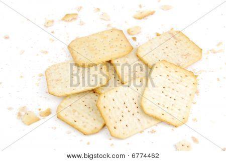 Reihe von rechteckigen Käse-Cracker