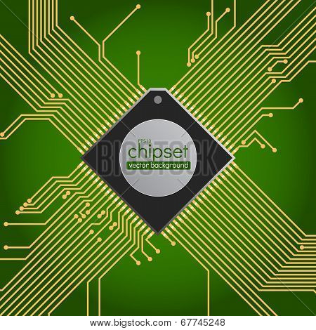 Chipset circuit vector background