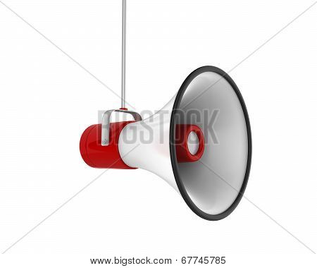 Red Megaphone Isolated