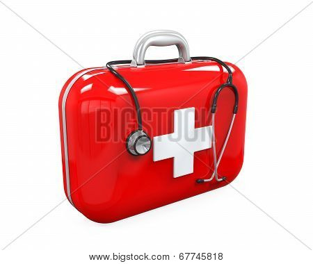 First Aid Kit and Stethoscope