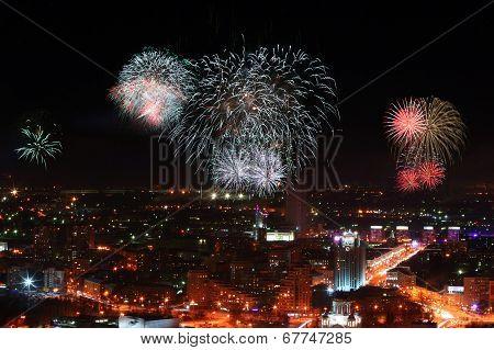 Fireworks In Ekaterinburg, Russia