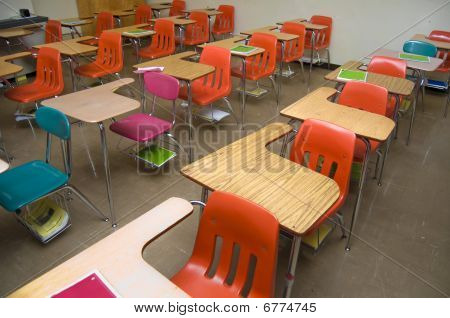 Empty School Desks