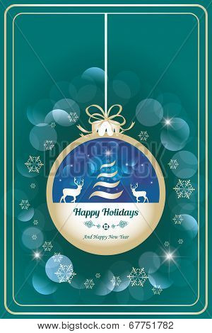Happy Holidays Card With Dear