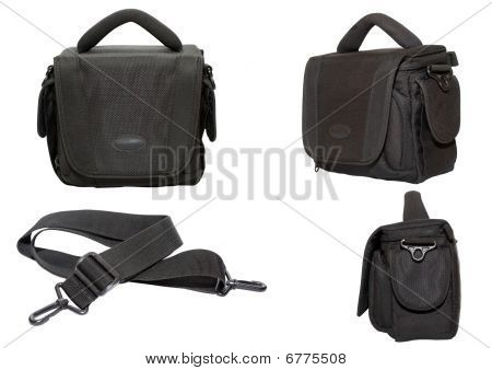 Black Bag For A Photo And Video Equipment