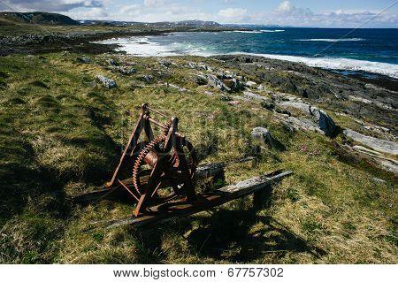 Rusty mechanism near Barents sea