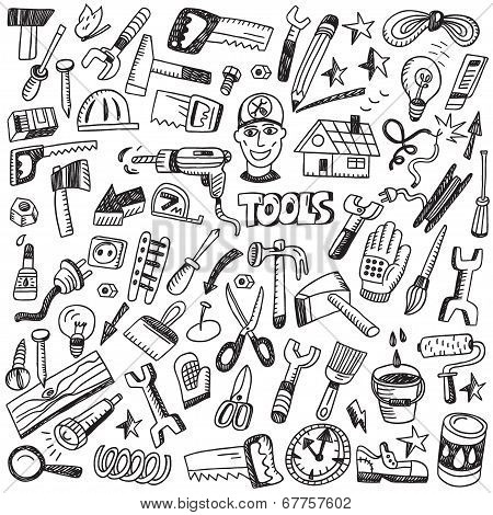 working tools illustration