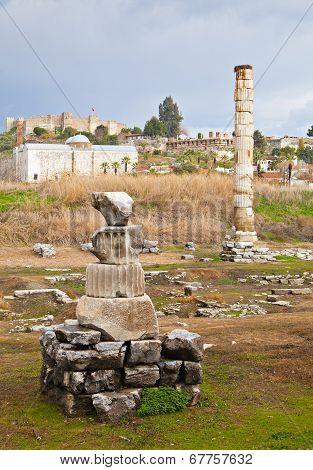 Ruins Of Artemision In Ephesus