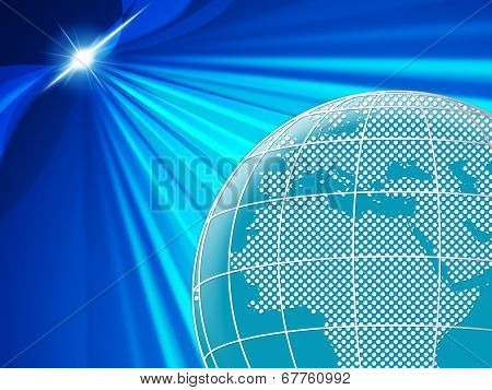 World Background Means Globalise Globally And Globalization