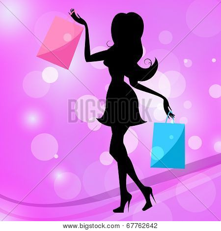 Woman Shopping Indicates Commercial Activity And Adult