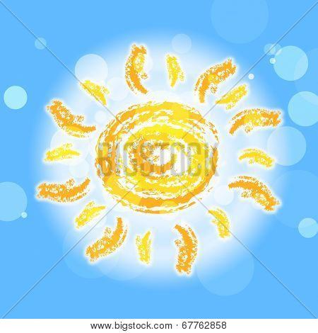 Sun Rays Represents Summer Time And Beam