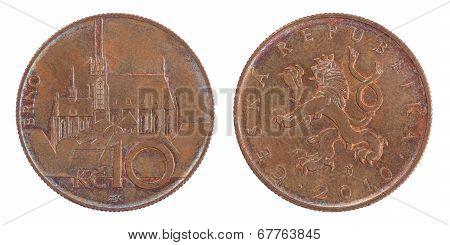 Ten Czech Koruna Coin