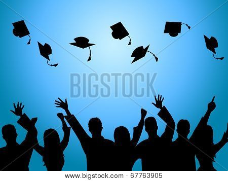 Education Graduation Indicates Degree Ceremony And Finishing