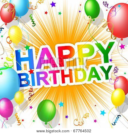 Happy Birthday Indicates Greetings Party And Greeting