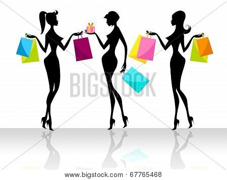 Shopping Shopper Indicates Retail Sales And Adult