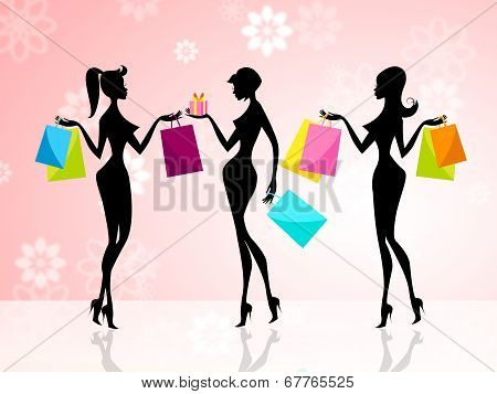 Shopper Shopping Shows Commercial Activity And Adults