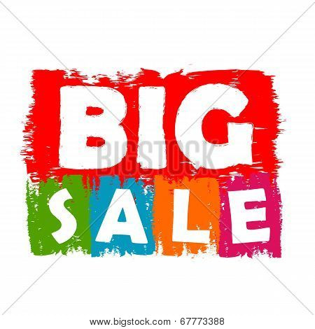 Big Sale Drawn Label