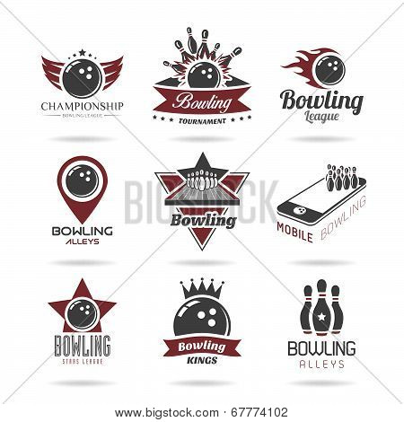 Bowling icon set - 2