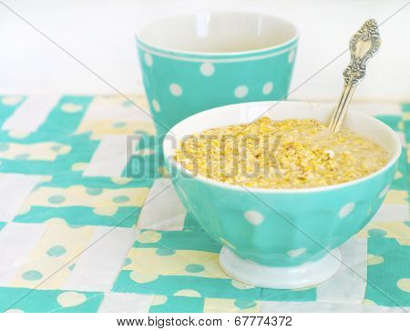 Porrige In Minty Plate
