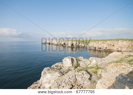 Rocks And Sea Beautiful Waterscape In Bulgaria