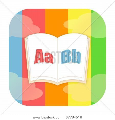 ABC book, encyclopedia or dictionary icon