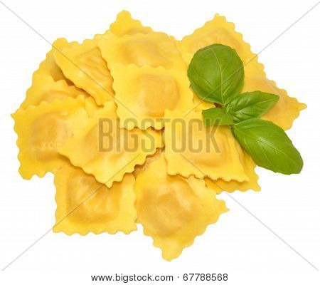 Fresh Uncooked Ravioli Pasta