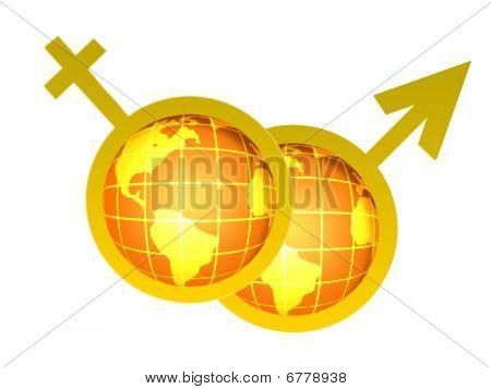 Venus and Mars symbols