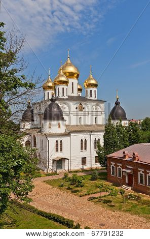 Side View Of  Dormition Cathedral (1512) In Dmitrov, Russia