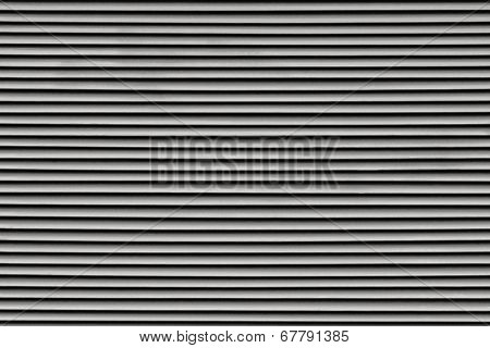 Fragment Of The Painted Blinds Black Color