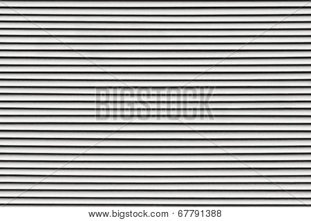 Fragment Of The Painted Blinds Gray Color